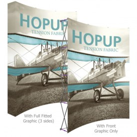 HopUp 8 ft. Curved Extra Tall Full Height Tension Fabric Display