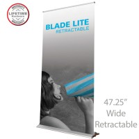 Blade Lite 1200 Roll Up Retractable Indoor Banner Stand - 47.25in wide