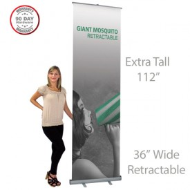 "Mosquito Giant Roll Up Retractable Indoor Banner Stand - 36"" wide"