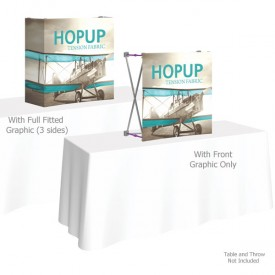 HopUp 2.5 ft. Straight Tabletop Tension Fabric Display