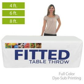 Fitted Full Color Dye-Sub Printed Table Covers for 4 ft., 6 ft. and 8 ft. Table Sizes