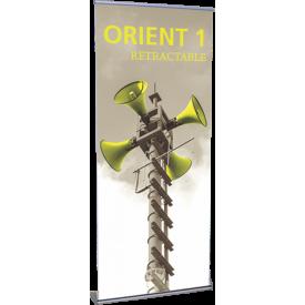 """Orient 850 Roll Up Retractable Indoor Banner Stand - 33.5"""" wide"""