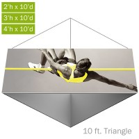 Formulate Essential Fabric Hanging Structure - 10 ft. Triangle