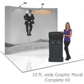 Coyote 10 ft Curved Pop Up Display - Graphic Mural Kit
