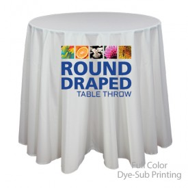 Round Draped Full Color Dye-Sub Printed Table Covers