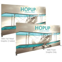 HopUp 15 ft. Straight Full Height Tension Fabric Display