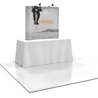 Coyote 5 ft Mini Tabletop Pop Up Display - Graphic Mural Complete Kit
