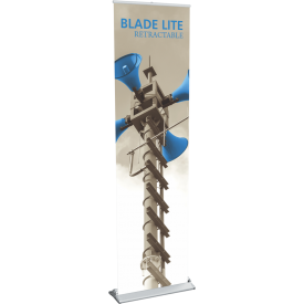 "Blade Lite 600 Roll Up Retractable Indoor Banner Stand - 23.5"" wide"