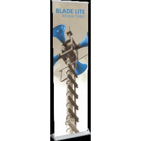 "Blade Lite 600 Roll Up Retractable Indoor Banner Stand - 23.5"" wide"