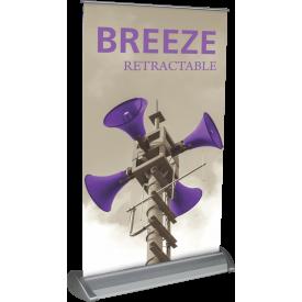"""Breeze-2 Tabletop Roll Up Retractable Indoor Banner Stand - 11"""" wide"""
