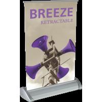 """Breeze Tabletop Roll Up Retractable Indoor Banner Stand - 8.38"""" wide"""