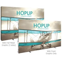 HopUp 12-1/4 ft. Straight Full Height Tension Fabric Display