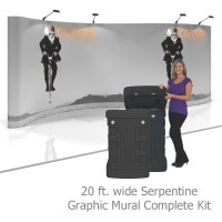 Coyote 20 ft Serpentine Pop Up Display - Graphic Mural Kit