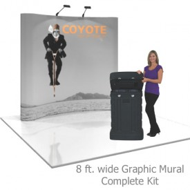 Coyote 8 ft Curved Full Height Pop Up Display - Graphic Mural Complete Kit
