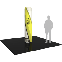 "Inflatable Display Medium Column 95.5"" tall with Graphics"