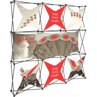 Xclaim 8ft. Wide Full Height Pop Up Display Kit 06