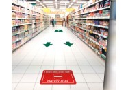 Aisle Traffic Flow Floor Decals Kit
