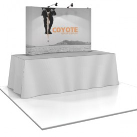 Coyote 6.5 ft Mini Tabletop Pop Up Display - Graphic Mural Complete Kit