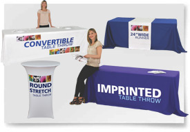 TABLE COVERS, THROWS & RUNNERS