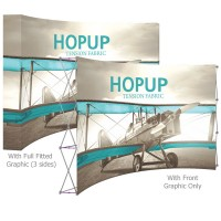 HopUp 15 ft. Curved Full Height Tension Fabric Display