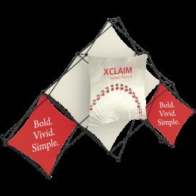 Xclaim 10ft. 6 Quad Pyramid Fabric Pop Up Display Kit 02