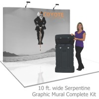Coyote 10 ft Serpentine Full Height Pop Up Display - Graphic Mural Complete Kit