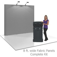 Coyote 8 ft Straight Pop Up Display - Fabric Panels Kit