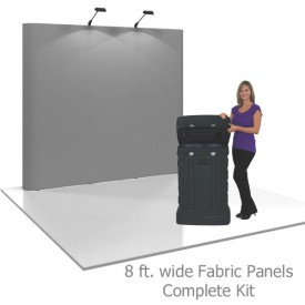 Coyote 8 ft Straight Full Height Pop Up Display - Fabric Panels Complete Kit