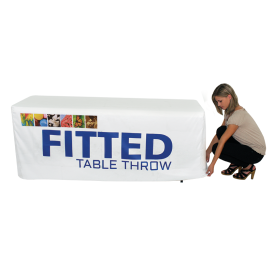 Fitted Full Color Printed Table Covers for 4, 6 and 8 ft. Table Sizes
