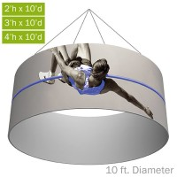 Formulate Essential Fabric Hanging Structure - 10 ft. Circle