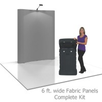 Coyote 6 ft Curved Full Height Pop Up Display - Fabric Panels Complete Kit