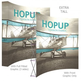 HopUp 10 ft. Curved Extra Tall Full Height Tension Fabric Display