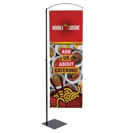 Curved Cantilever Banner & Sign Stand