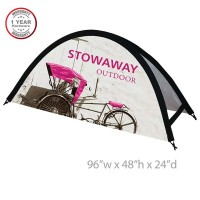 Stowaway Large Tension Outdoor Banner Stand