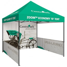 Zoom 10ft. PopUp Tent Kit - Printed Canopy, Full Wall, 2 Half Walls