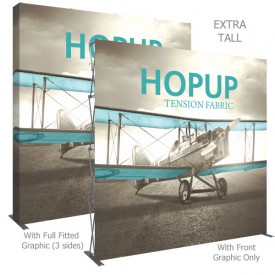 HopUp 10 ft. Straight Extra Tall Full Height Tension Fabric Display