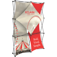Xclaim 5ft. Wide Full Height Pop Up Display Kit 01
