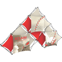 Xclaim 14ft. 10 Quad Pyramid Fabric Pop Up Display Kit 02