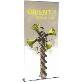 "Orient 1000 Roll Up Retractable Indoor Banner Stand - 39.25"" wide"