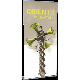 """Orient 1000 Roll Up Retractable Indoor Banner Stand - 39.25"""" wide"""
