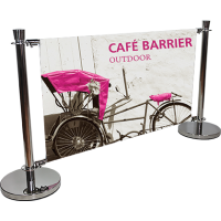 Cafe Barrier Indoor & Outdoor Banner Stand System