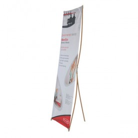 "Bamboo X-Stand Banner Stand - 31.5"" wide"