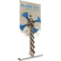 "Blade Lite 1000 Roll Up Retractable Indoor Banner Stand - 39.25"" wide"