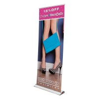 "XChange Retractor Banner Stand - 35"" wide"