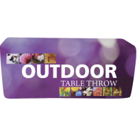 Outdoor Fitted Full Color Table Covers for 6 and 8 ft. Table Sizes