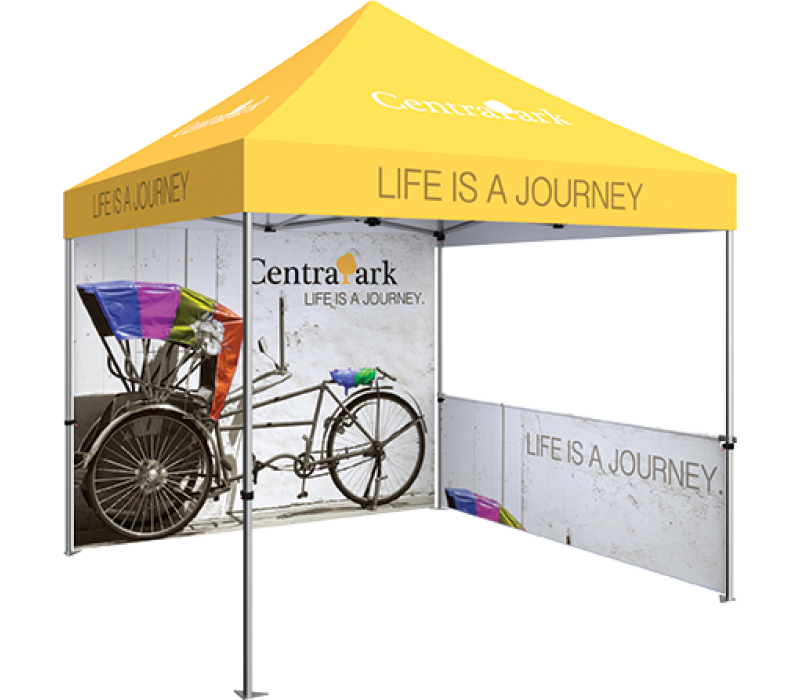 Zoom Standard 10ft. PopUp Tent Kit - Printed Canopy, Full Wall and ...