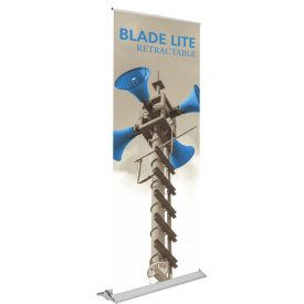 "Blade Lite 800 Retractable Banner Stand & Banner Set - 31.5"" wide"