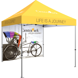 Zoom Standard 10ft. PopUp Tent Kit - Printed Canopy and Full Wall