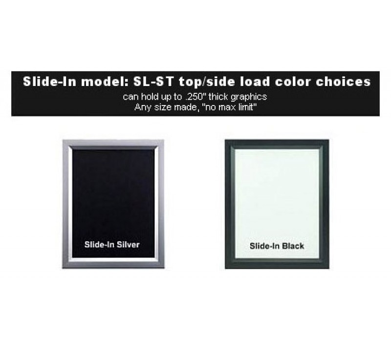 Slide-In Aluminum Poster Frame Displays - Quick Change by ...