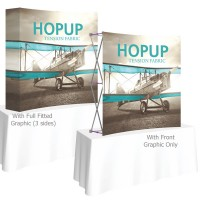 HopUp 5.5 ft. Curved Square Tabletop Tension Fabric Display